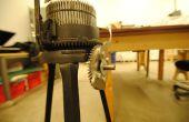 Los vándalos rompieron el mango - Gearhart para hacer punto máquina reparación con láser