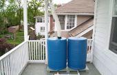 Elevado sistema de colección de agua de lluvia doble cilindro