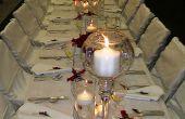 Cómo establecer hasta un banquete en 5 pasos