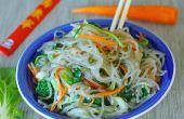 Salteado de vegetales fideos - GF de cristal y sano