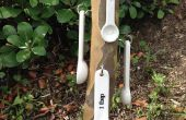 Medición de estante de la cuchara de madera reciclada