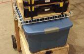 Caja de herramientas móvil y estación de trabajo