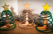 Fácil de tres piezas paquete plano árbol de Navidad