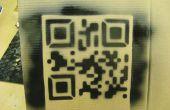 Plantilla de código de QR de corte por láser.