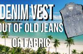 Como hacer chaleco de Denim de viejos pantalones vaqueros paso a paso video