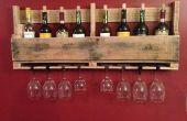 Plataforma de estante del vino