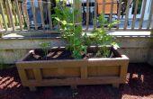 Plantador al aire libre grande de una caja de transporte reciclado