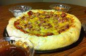 Pizza Dog con salsas que sumergen de maíz