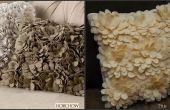 Almohada de pétalo fieltro de Horchow Delancy imitación