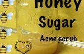 Exfoliante Facial de acne miel