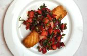 Salmón crujiente con Salsa de albahaca fresa (en menos de 20 minutos)
