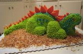 Torta de cumpleaños de dinosaurio 3D