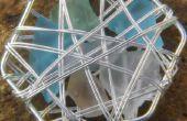 Mar cristal cesta pendientes