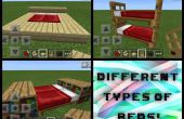 Diferentes Minecraft PE camas