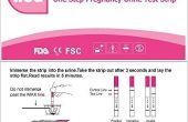 ¿Cómo utilizar las tiras de prueba de embarazo?