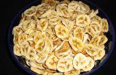 Secado de chips de plátano