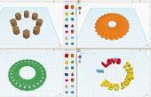 Tinkercad: Fácil matriz de círculo