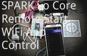 Núcleo de la chispa activa un arrancador del coche de control remoto por WiFi