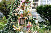Vintage DIY estación de alimentación de aves
