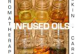 Infundido aceites para aromaterapia y cuidado de la piel