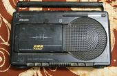 Colocar una línea en a un viejo Philips Radio Cassette Recorder - (número de modelo DR193)