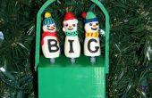 Muñecos de nieve Navidad de ortografía