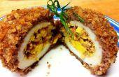 Encima del Bacon Triple Deviled huevo escocés