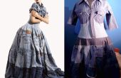 Reciclar vestido del dril de algodón