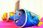 Encontrar Nemo y DORY teléfono soporte y amplificador de altavoces de papel toalla rollo