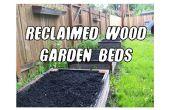 Levantó camas de jardín (y más) de madera reclamado