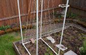 Celosía de jardín del PVC