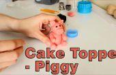 Cómo hacer un Topper de la torta de azúcar pasta Fondant cerdo