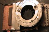 Reparación de un sobrecalentamiento del ordenador portátil cambiando existente ventilador ventilador de 12V BLDC y mejorar el flujo de aire