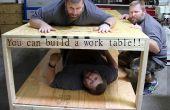 Hacer un fácil madera 2 x 4 mesa de trabajo del balanceo.