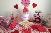 Idea de mesa fiesta de día de San Valentín