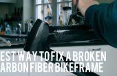 Reparación de un roto Carbonfiber Bikeframe