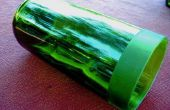 Falso grabado al agua fuerte cristal vino florero/votiva sostenedor de botella