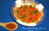 Vinagre de fruta de la pasión (desde cero) con ensalada de zanahoria pimiento
