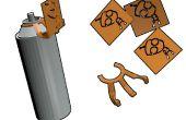 La creación de un accesorio acoplable de la plantilla por una lata de aerosol.