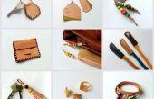 Proyectos de bricolaje chatarra cuero