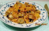 Vegana libre de Gluten temporada ensalada de rábano negro y tofu!