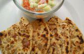 Paratha sabrosa cebolla crujiente de Punjabi / receta de pan