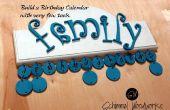 Calendario de cumpleaños de DIY con pocas herramientas!!!!
