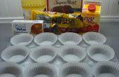 Cupcakes de chocolate con relleno de queso crema