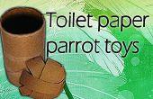 Juguete loro de rollo de papel higiénico