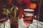 Botella de vino de antorcha Tiki