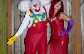 Jessica y Roger Rabbit traje hecho a mano