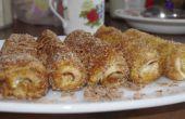 Rollos de chocolate y Philadelphia (queso suave)