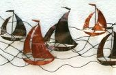 Arte de la pared - barcos de vela del metal