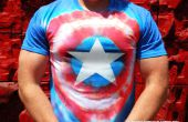 Capitán América Tie Dye Avengers camiseta